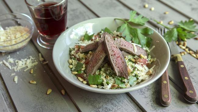 Salat mit Rehfilet