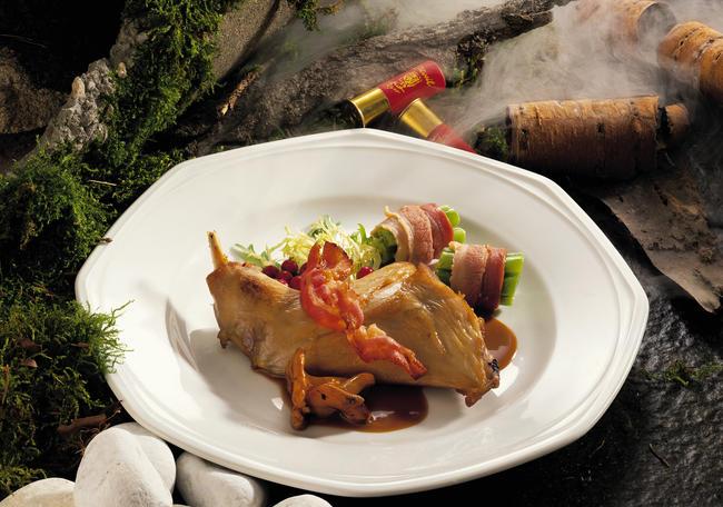 Kaninchenkeulen mit Pfifferlingssauce
