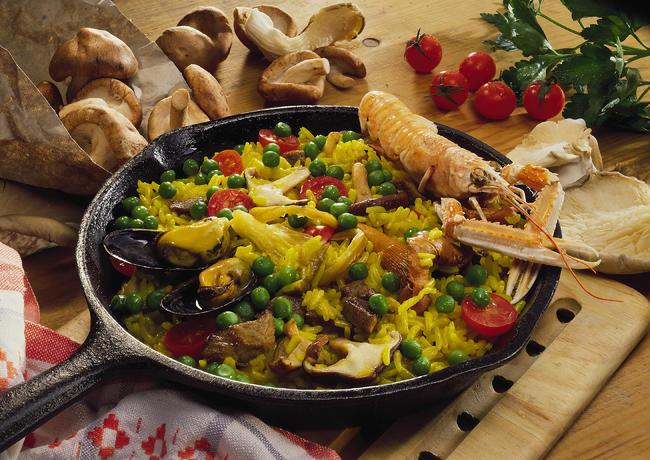 Kaninchen-Paella
