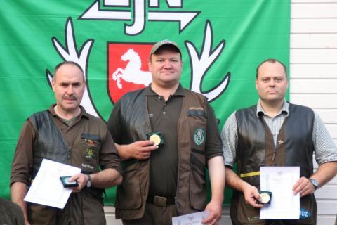 Bundesmeisterschaft jagdliches Schießen Jakob Eveslage, Rolf Moser und Günther Sittkus