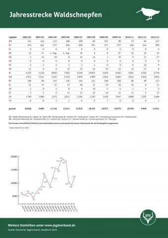 Waldschnepfe: Jagdstatistik 2012/13