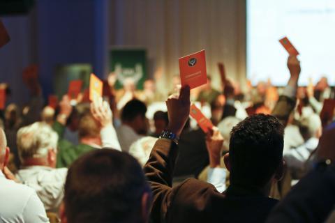 Bundesjägertag 2014: Bei allen Abstimmungen demonstrierten die anwesenden Delegierten Einigkeit.