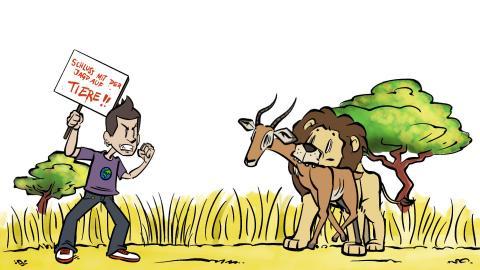 Titelbild Comic Tierrechte