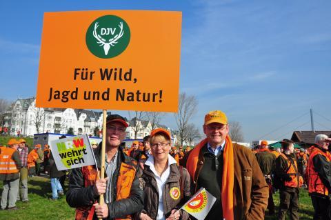 Bei strahlendem Sonnenschein hieß es: Für Wild, Jagd und Natur !