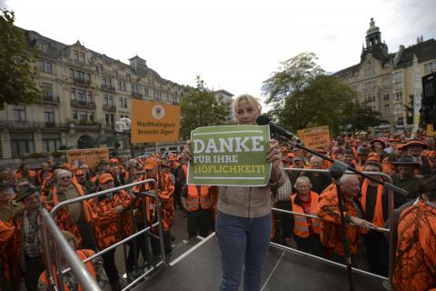 Ursula Hammann (Naturschutzsprecherin der Grünen) bittet um Gehör.