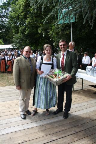 Preisverleihung beim Bundeswettbewerb Jagdhornblasen in Kranichstein