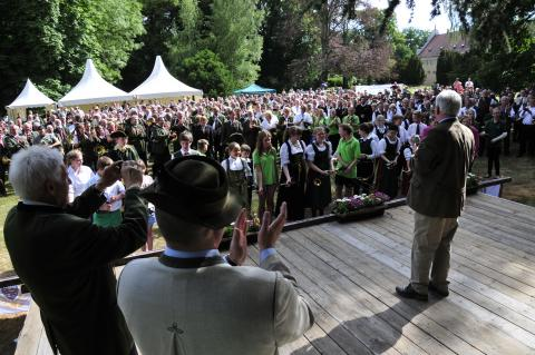 Begrüßung zum Bundeswettbewerb Jagdhornblasen 2015