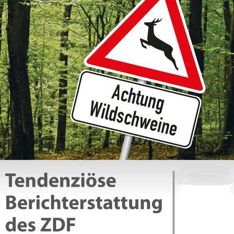 Poster Tendenziöse Berichterstattung des ZDF